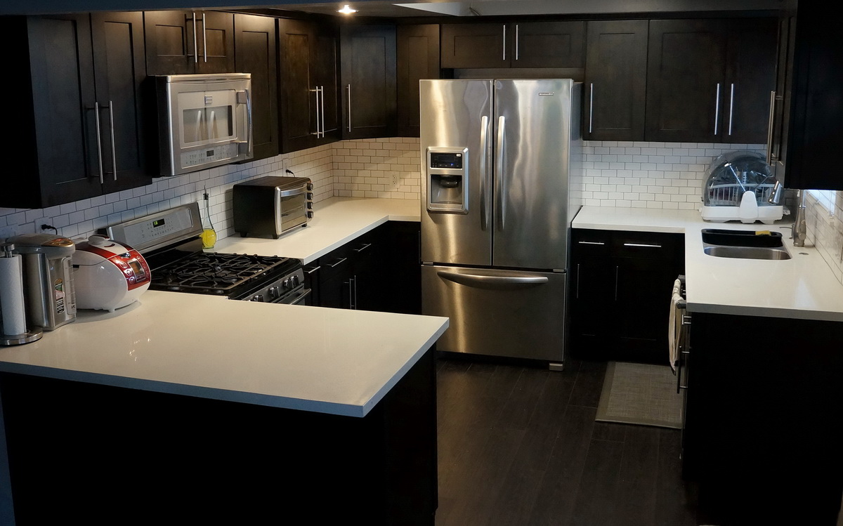 Rta Shaker Kitchen Cabinets White Kitchen Cabinets Or Espresso Quicuacom